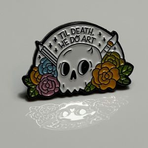 Til Death We Do Art Enamel Pin